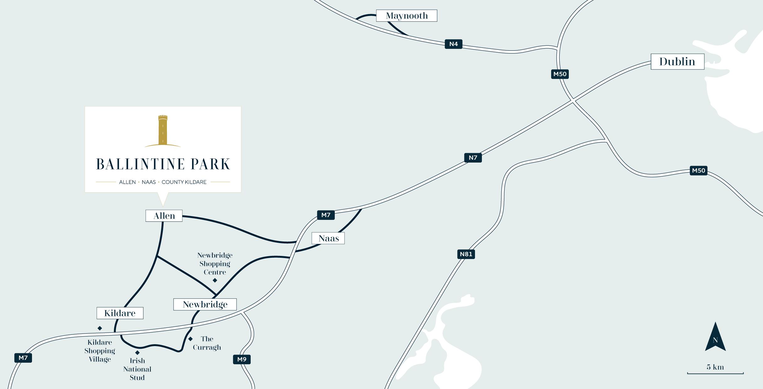 Ballintine Park Estate Kildare location map_01