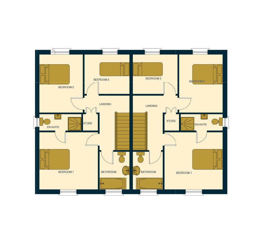 Ballintine Park, Allen, Co. Kildare semi detached house, 1st floor